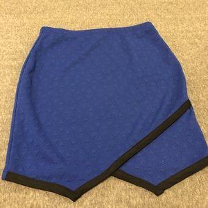 Blue mini skirt, bottom to set